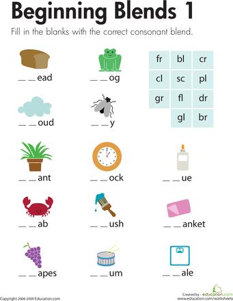 Beginning Blends 1 | First grade phonics, Spelling ...