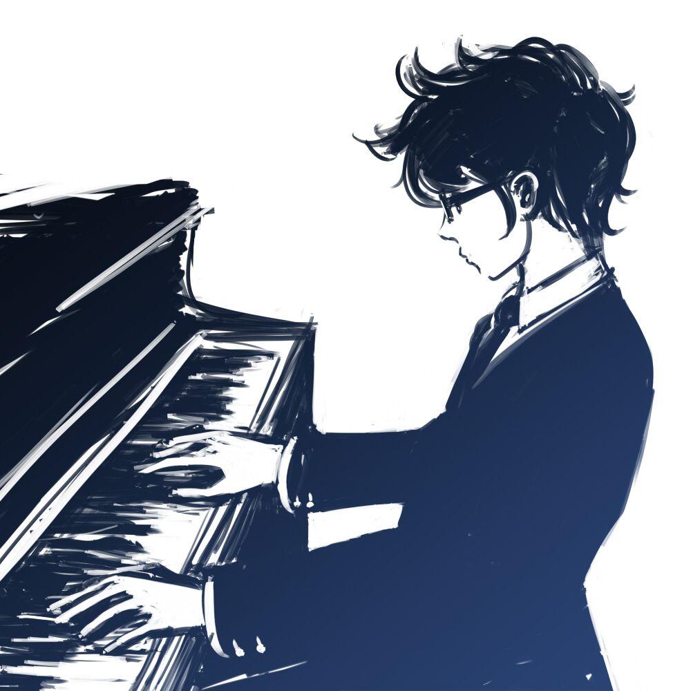 John Egbert Homestuck Piano Anime Playing Piano