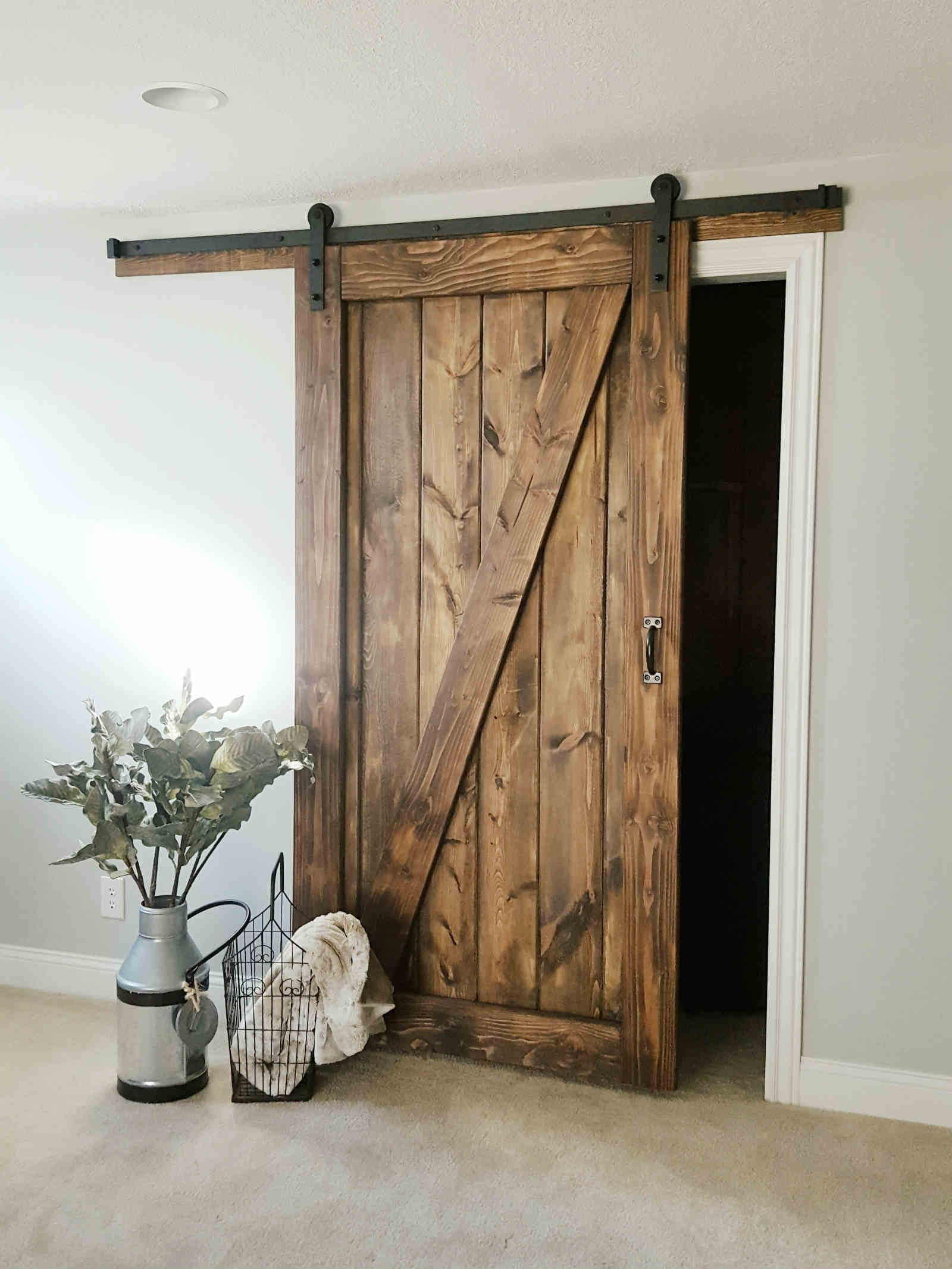 1 Panel Z Barn Door Walston Door Company N Kansas City Mo Barn Door Designs Interior Sliding Barn Doors Barn Door Closet