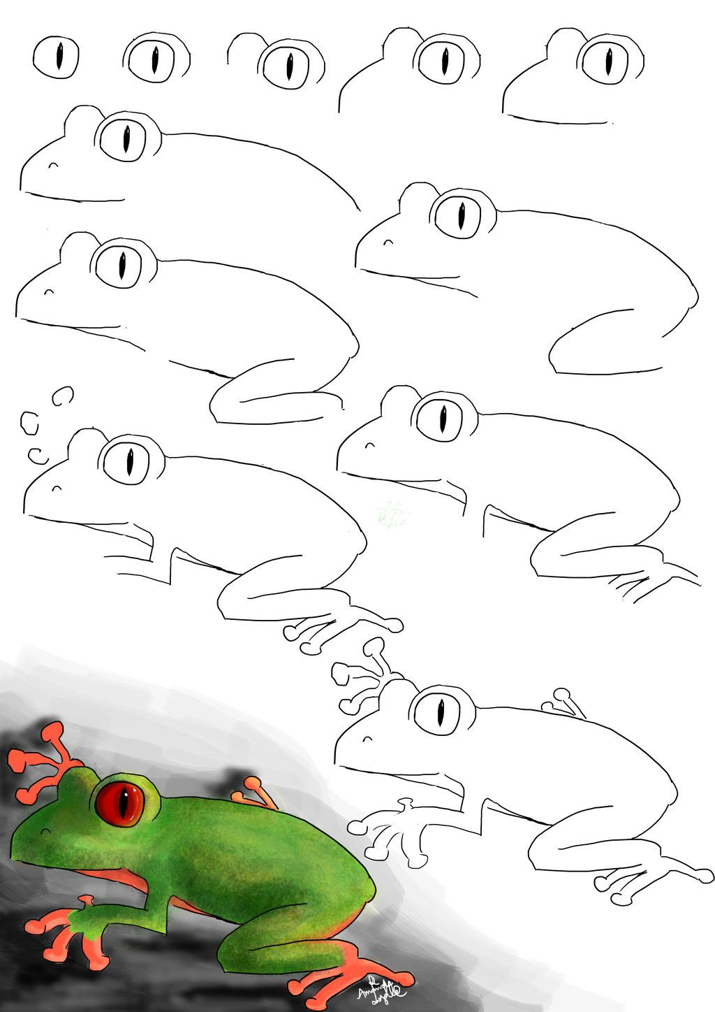 How To Draw a Frog by animands on DeviantArt | Frog ...