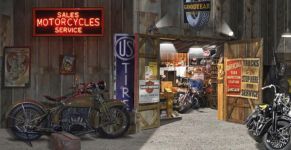 Outside The Motorcycle Shop Motorcycle shop, Chopper