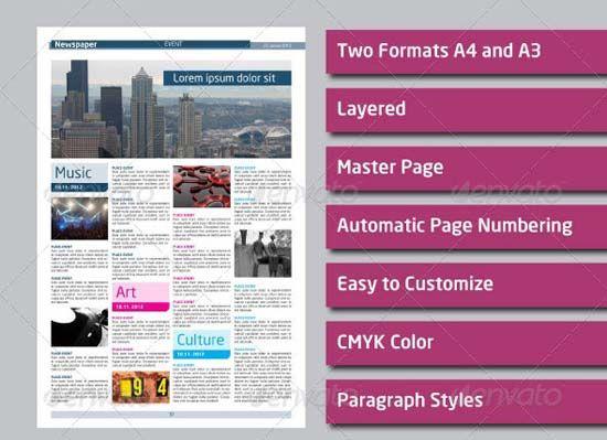 3 Newspaper Template Design Ideas Pinterest Email Newsletter
