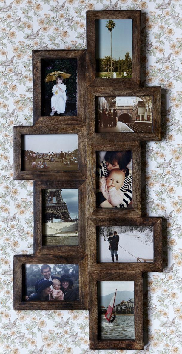Nine Multi Photo Frame - Dark Wood Effect £32.45   Home decor ...