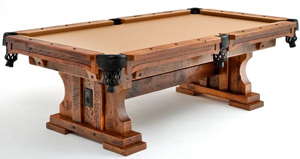 Rustic and timber frame pool tables rustic game tables for Pool table woodworking plans