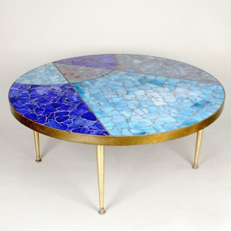 Vintage Mosaic Coffee Table By Birgit Israel Occasional Tables In The Showroom Collection
