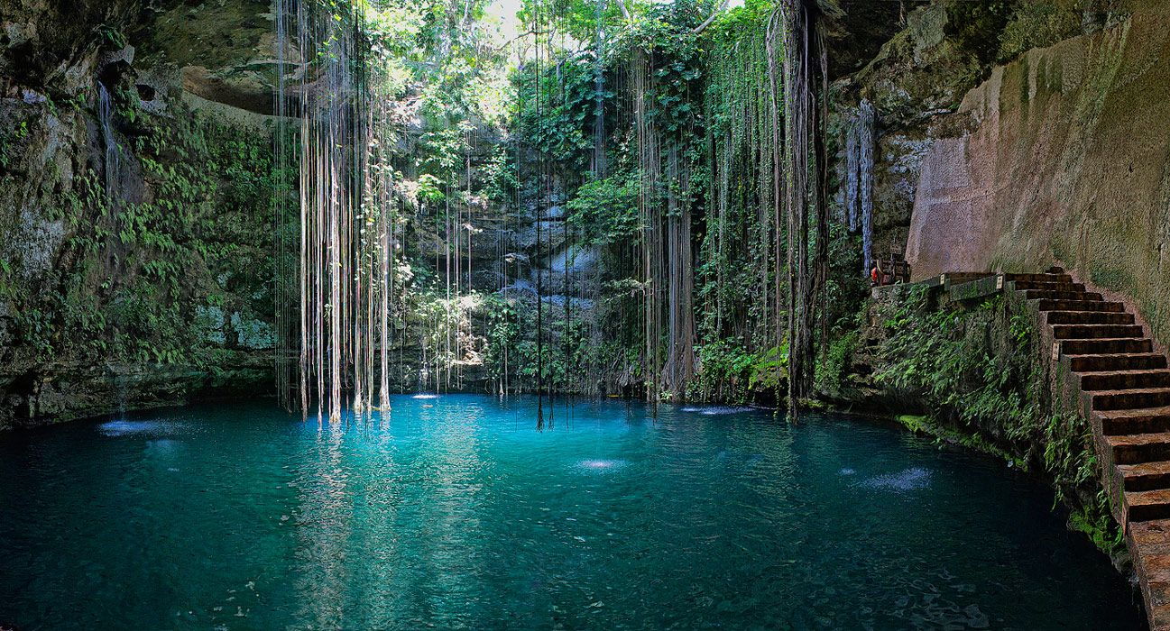 You must check out the Yucatan peninsula as its home to one of the most breath taking under water rivers.  These breath taking underground caverns are a must see while in Mexico.