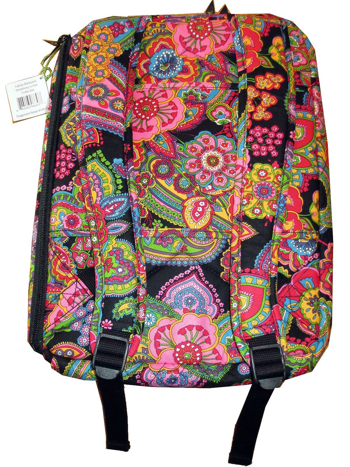 Vera Bradley Laptop Backpack in Symphony in Hue Retired Pattern Brand New ~  BACK TO SCHOOL COLLEGE SALE! bf94e7f6dd39e