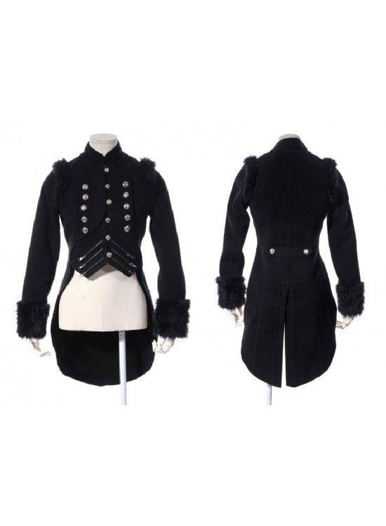 Ring Master Coat  black  Halloween Fashion f3a3103398