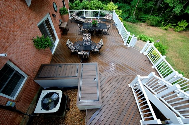 Deck Around Ac Unit Decorating Ideas In 2019 Building