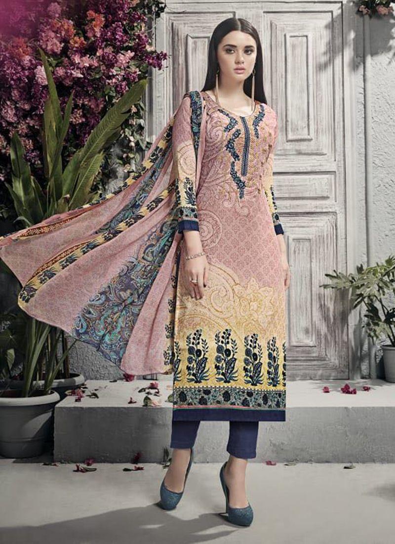 73c4501609 ... Rs.920/- (Inr) / $12.76 (usd) Each #Latest #Designs #Cotton #Satin  #Printed #Work #Casual #Wear #Churidar #Suits #Online #Shopping #UK #USA  #MALASIYA