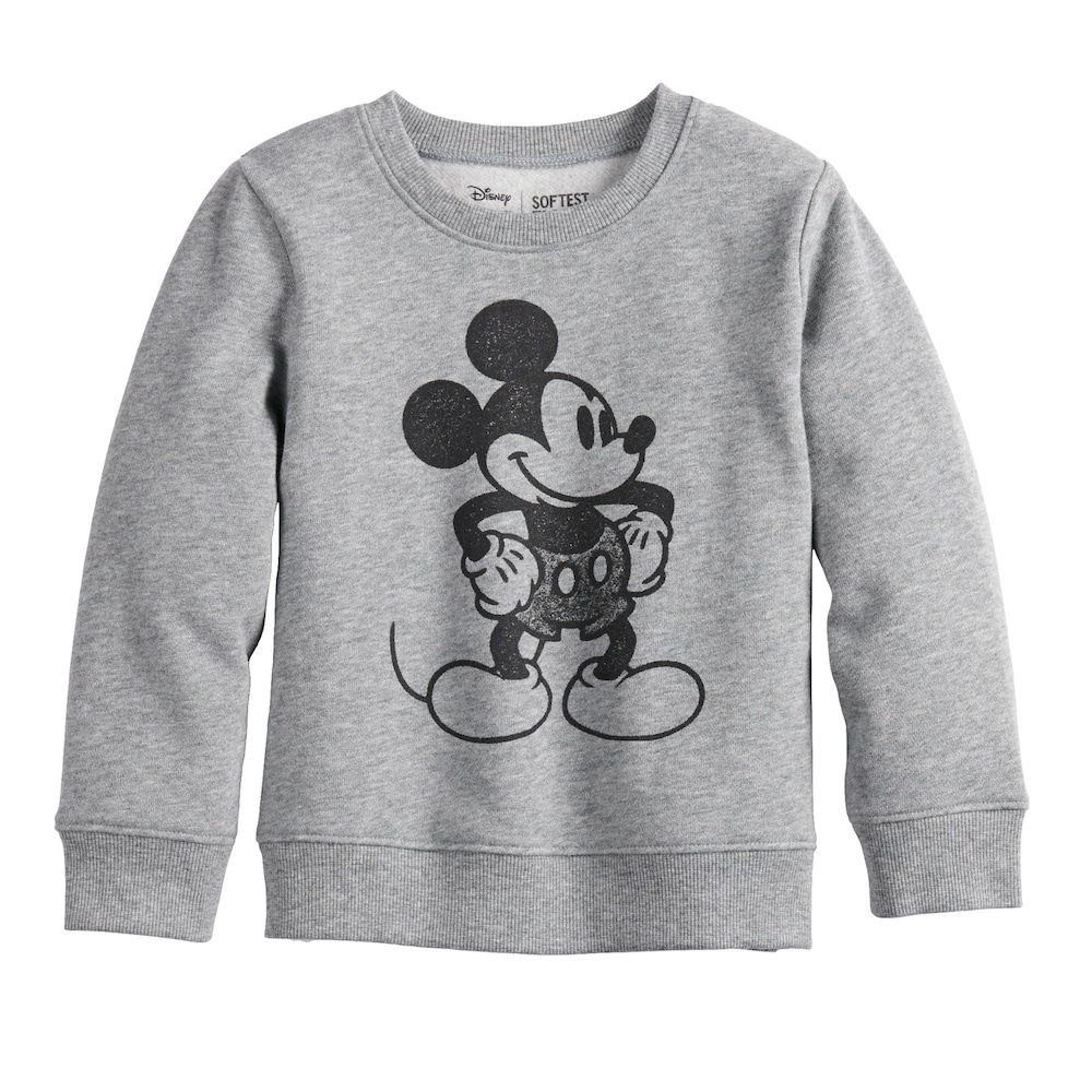 6559d3cf8 Disney's Mickey Mouse Toddler Boy Softest Fleece Sweatshirt by Jumping  Beans®, Size: 5T, Med Grey