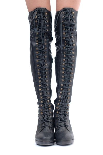thigh high combat boots | You can tell a lot about a girl by the ...