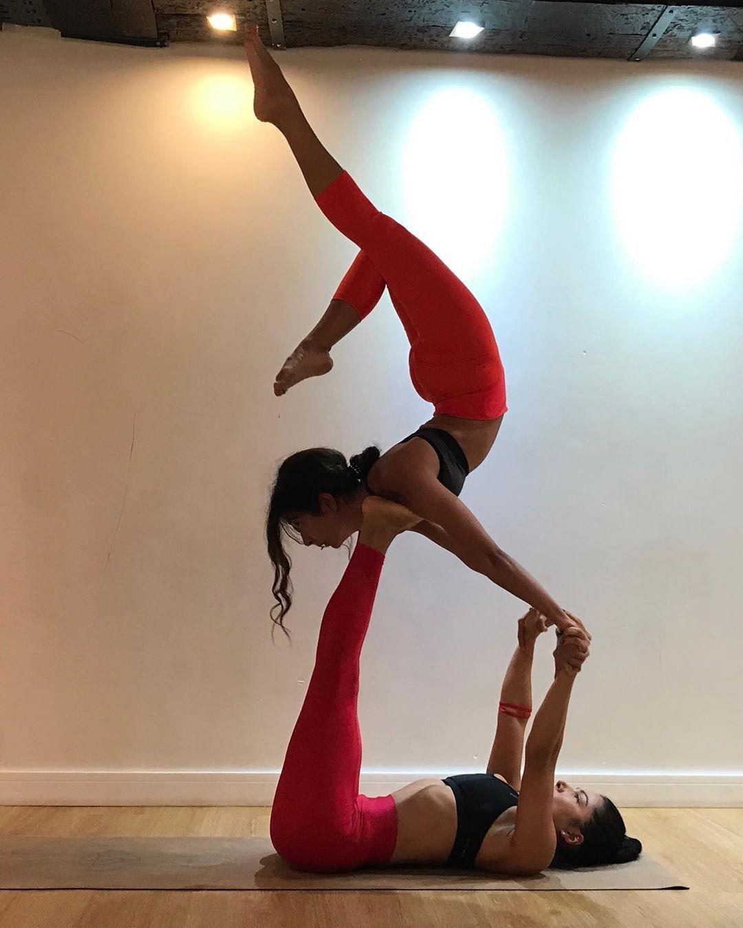 Easy Yoga Poses Partner