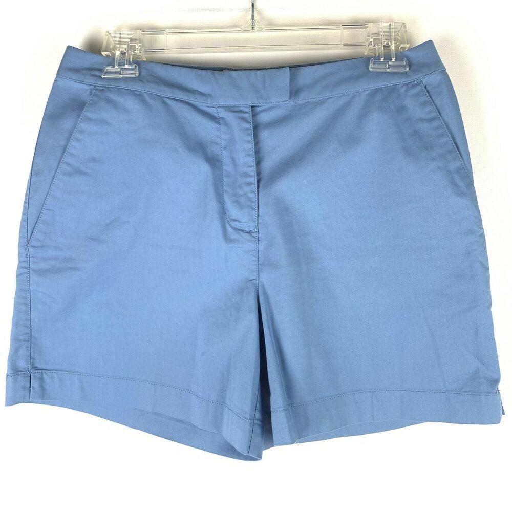 cadbd2ab6 Adidas Womens Golf Shorts Size 6 Blue Stretch Deep Pockets Trouser Close  499PM | eBay