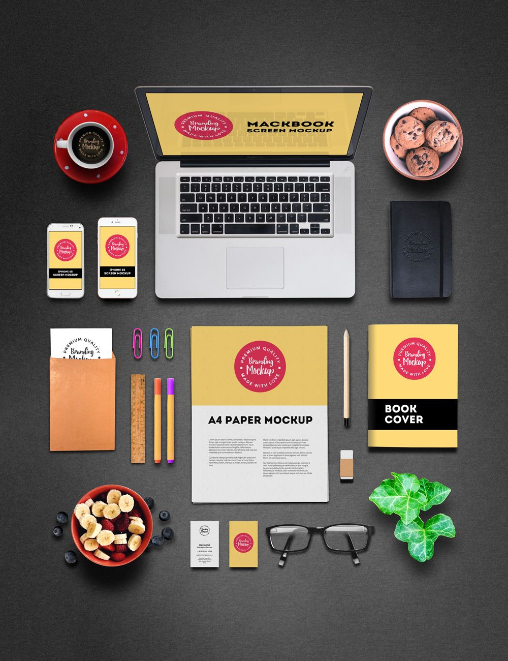 free branding and identity mockup freebies a4 book branding, Presentation templates
