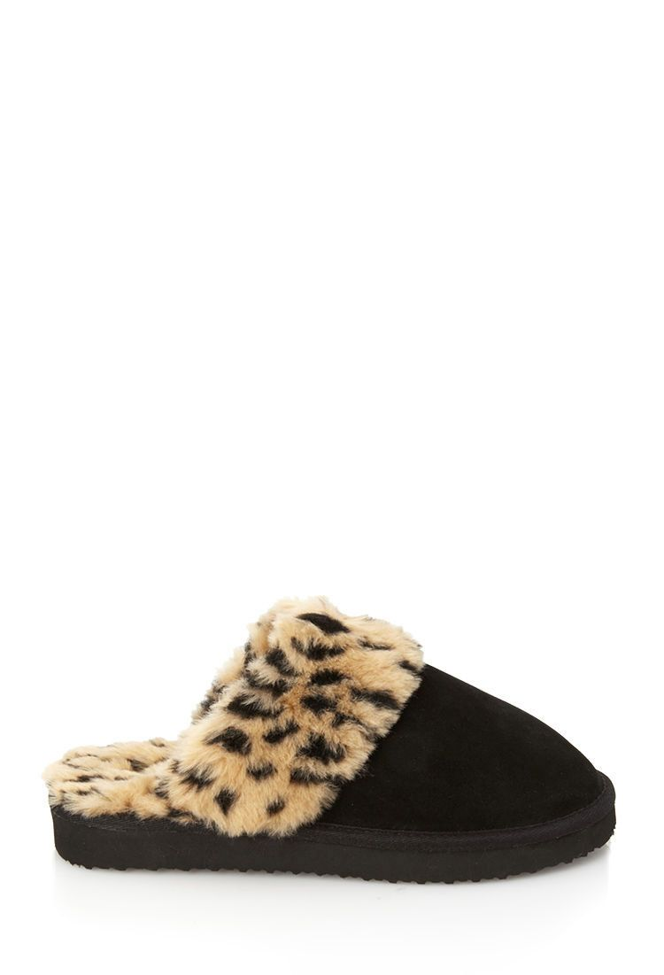 8f7d8f56d922 Cheetah Print Faux Fur Slippers