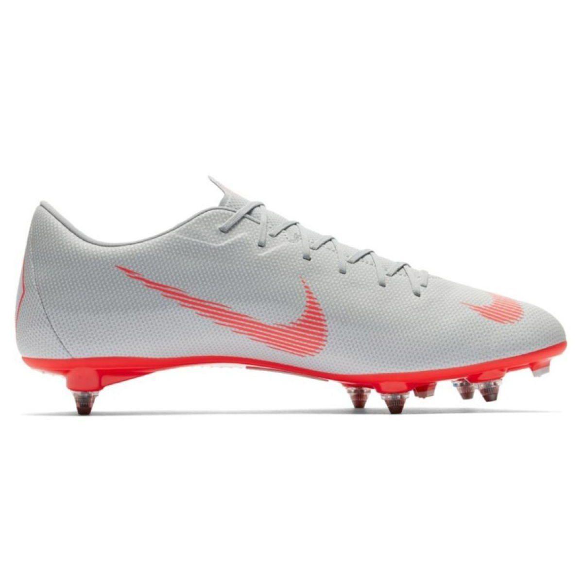Buty Pilkarskie Nike Mercurial Vapor 12 Academy Sg Pro M Ah7376 060 Szare Wielokolorowe