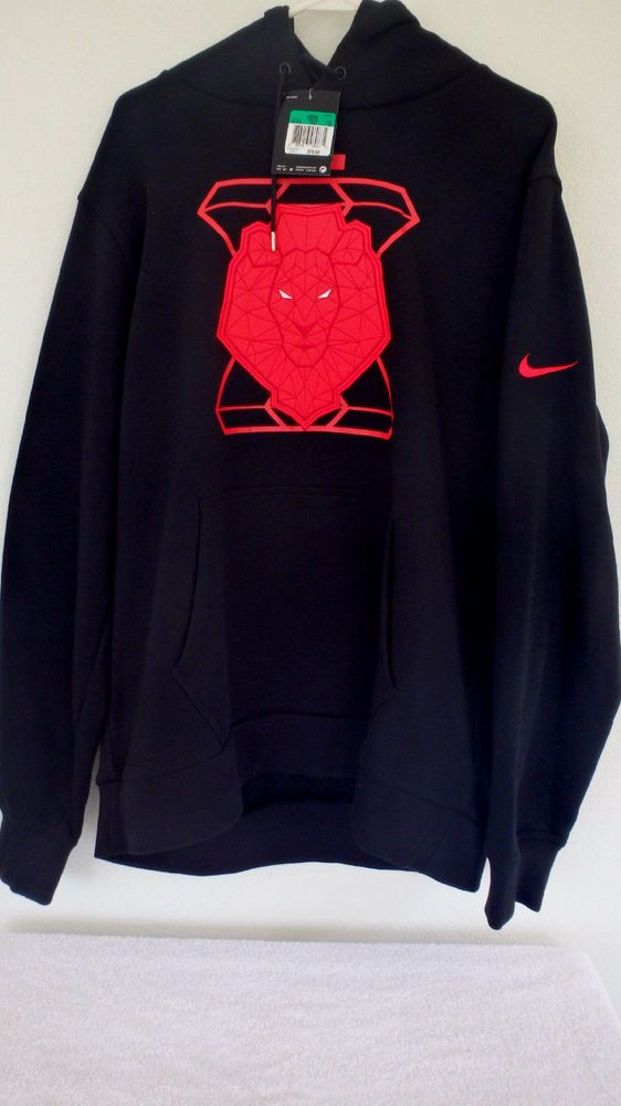 d7fa2609e74d Nike Lebron James OG 10 Lion Hoodie X MVP Blk/Lava Red Sz XL Pullover  541512-010 #Nike #Hoodie
