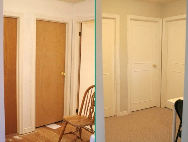 Adding two raised panel to a flat builder grade door & Adding two raised panel to a flat builder grade door | DIY | DIY ...