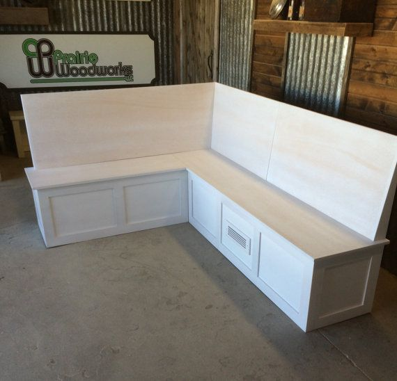 Corner Bench Seating: Banquette-Corner Bench Seat With Backrest