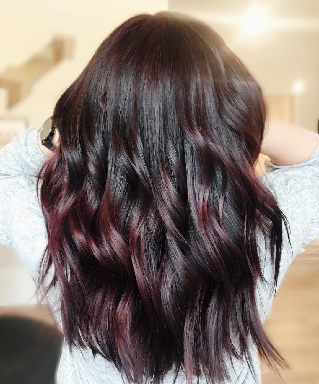 """76 Likes, 5 Comments - Ashley Ballou✂️ (@hairbyashleyballou) on Instagram: """" Hair like hers makes me so envious of the dark side! I did @redken5thave Color Fusion half 3Vr…"""""""