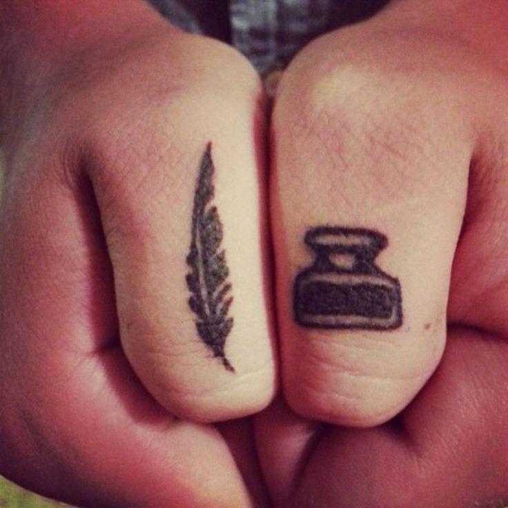 Simple Quill Tattoo | Quill tattoo