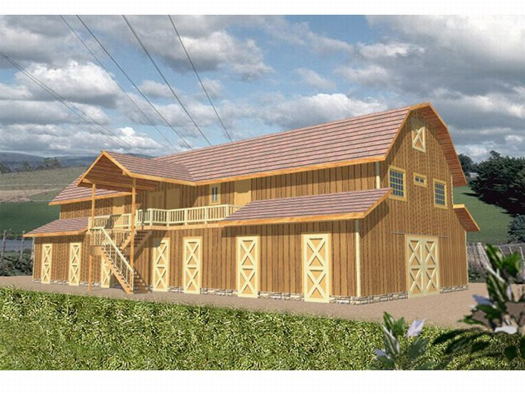 Outbuilding Plan Country Style House Plans House Plans Farmhouse Pole Barn House Plans