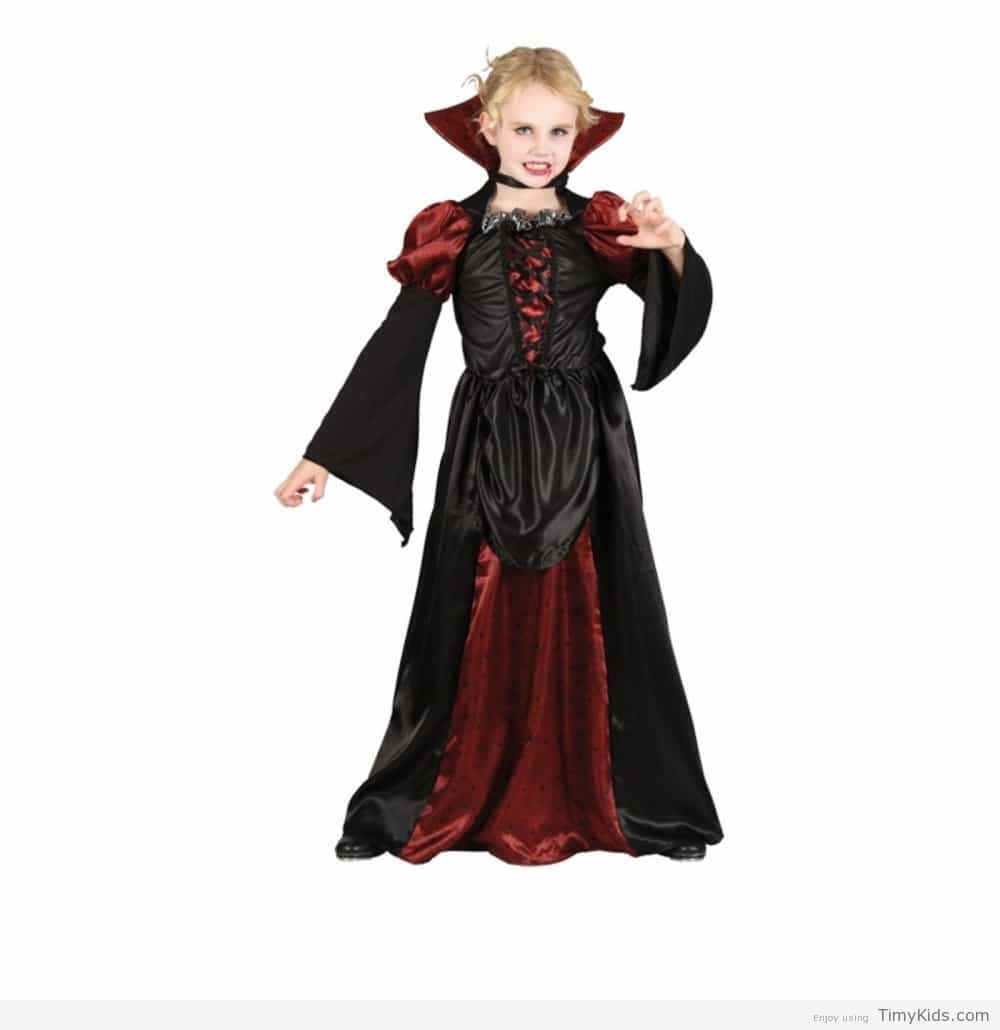 m girls scary vampiress halloween costume for fancy dress childrens kids childs