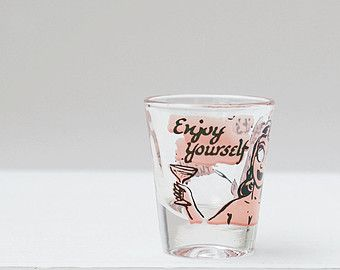 Vintage Roving Eye Anchor Hocking Shot Glass, Novelty Shotglass, Retro  Barware, Vintage Barware