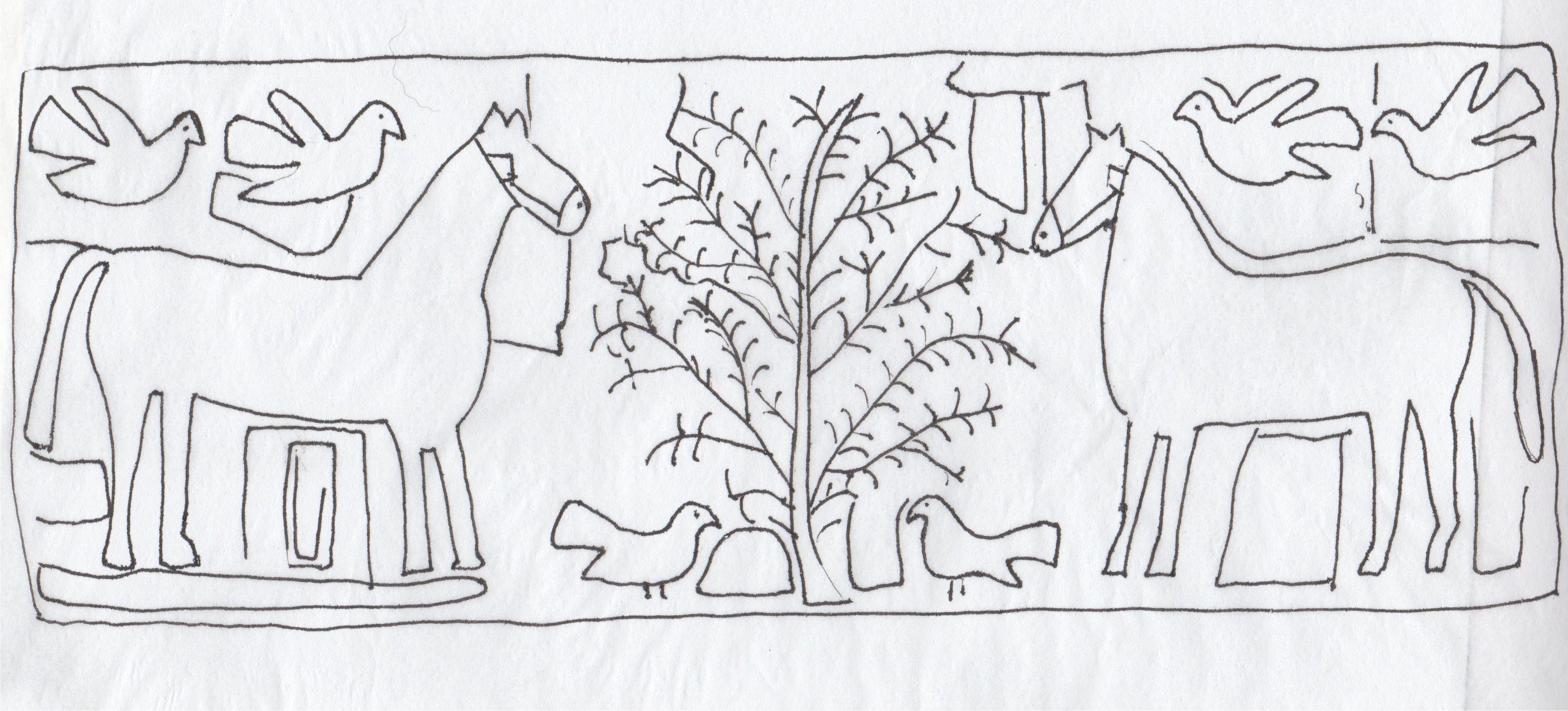 Image result for rug hooking pattern horse tree   bordados   Pinterest