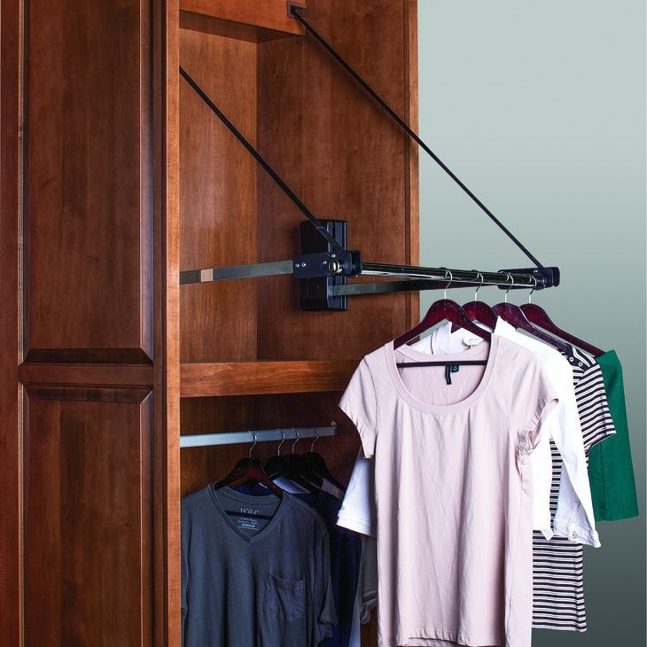 Hafele America motorized wardrobe lift in the häfele america shop dressing