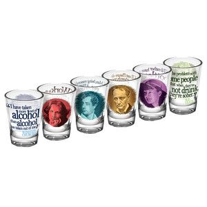 Great Drinkers Shot Glasses 6pk, now featured on Fab.