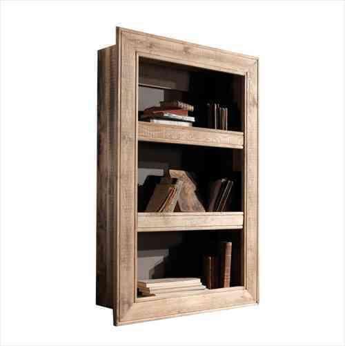 Dettagli su Libreria scaffale da parete in legno massello