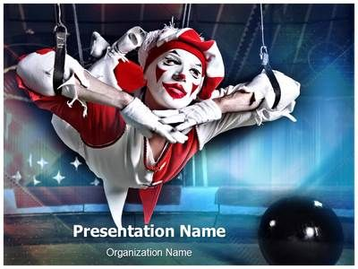 Circus Acrobat Powerpoint Template Is One Of The Best PowerPoint Templates By EditableTemplates