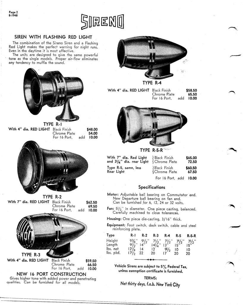1948 ad  sireno r5r