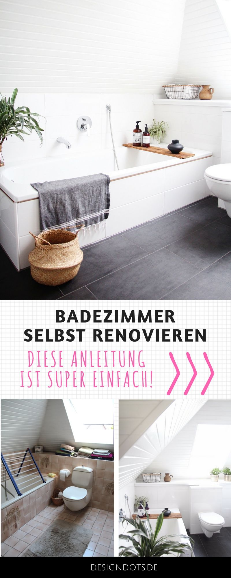 Badezimmer selbst renovieren: vorher/nachher | Pinterest | Vorher ...