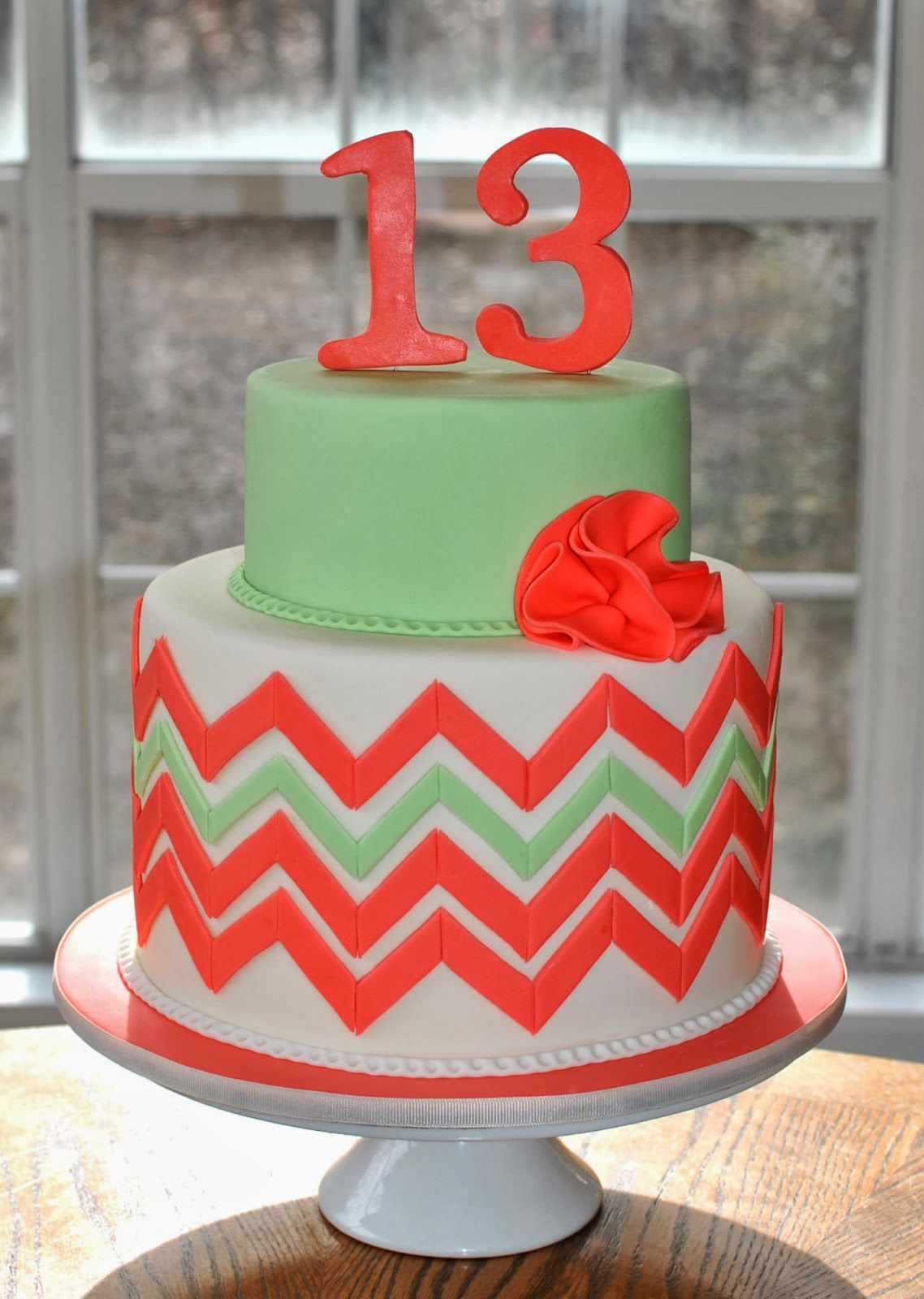 Hope S Sweet Cakes Chevron Cake