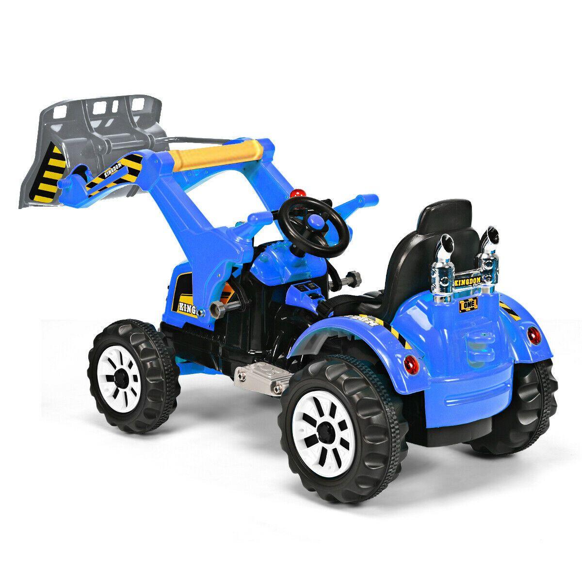 12V Battery Powered Children's Ride on Dumper TruckBlue