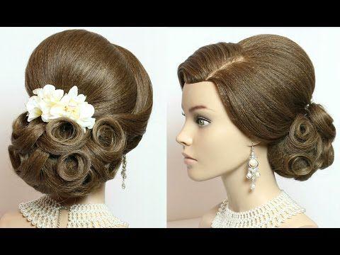 2 Wedding Hairstyles Updos For Long Medium Hair Tutorial Youtube Medium Hair Styles Hair Tutorial Hair Tutorials For Medium Hair