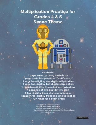 Multiplication Practice for Grades 4 & 5 CCSS Galaxy Wars from ...