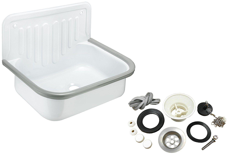 Cornat Stahl-Ausgussbecken mit Zubehör-Set, 50 cm, 1 Stück, AGBSET50: Amazon.de: Baumarkt