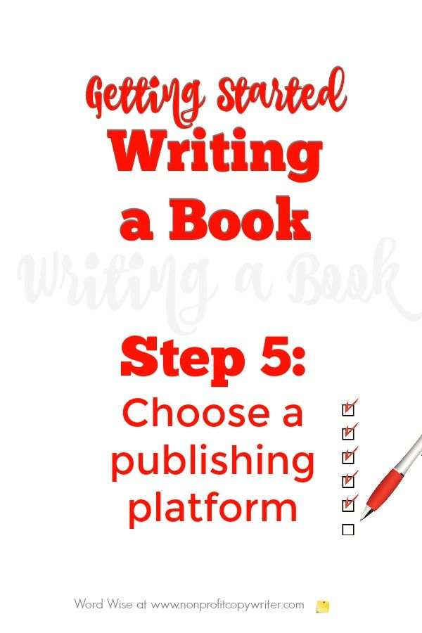 Getting started writing a book