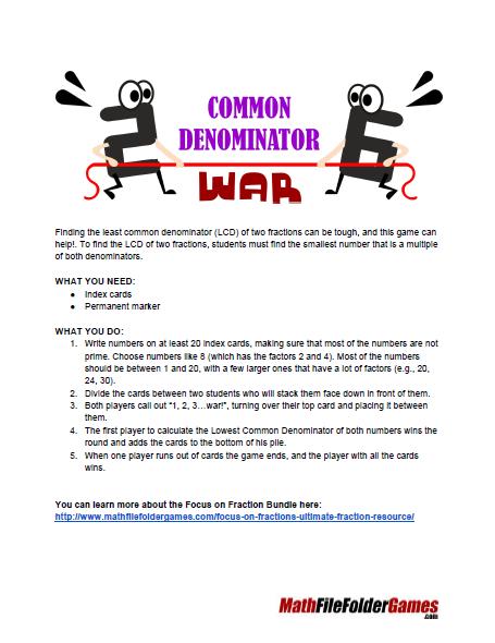 Help fractions math homework helper least common denominator