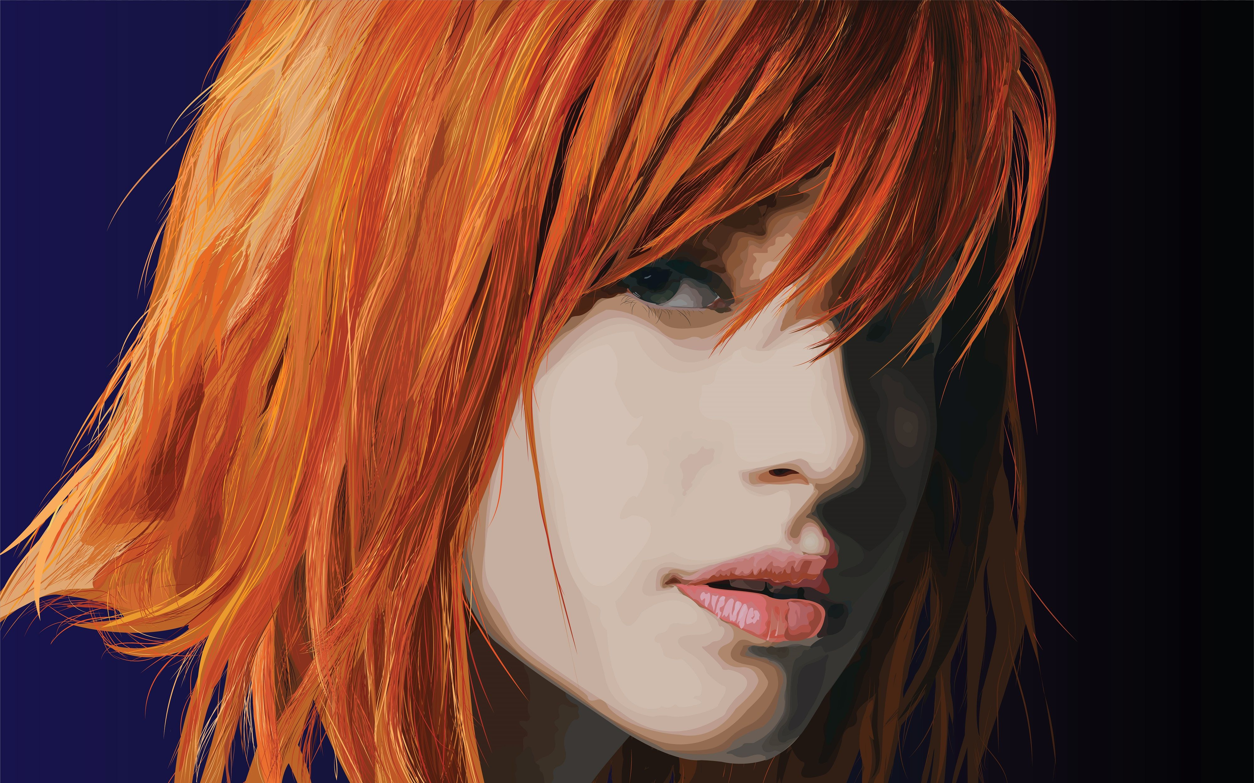 Vector Portrait of Hayley Williams of Paramore - Imgur