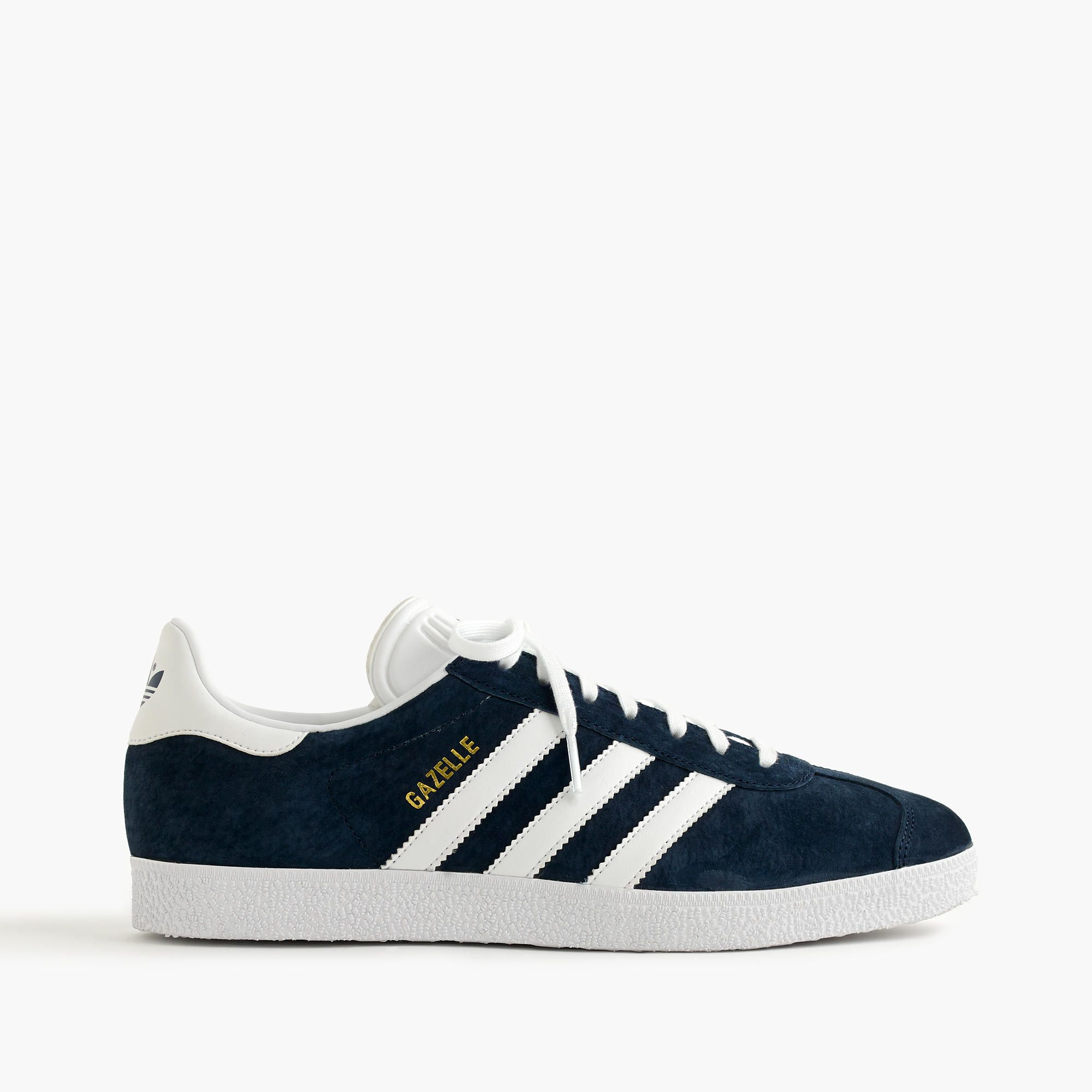 adidas Jeans Trainers in Navy /& White Leather subtle gum sole retro classic