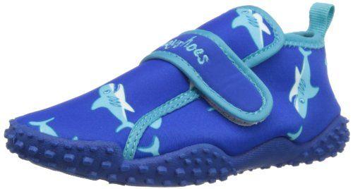 Playshoes Aquaschuhe, Badeschuhe Hai mit höchstem UV-Schutz nach Standard  801 174773, Jungen