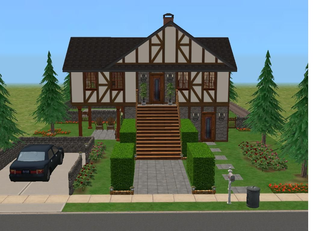 """Mod The Sims - """"Ash Welles Tudor"""" Furnished No CC.  Residential: 3x2.  Price: $148,564.  2BR, 2BA."""