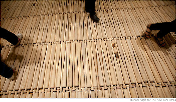 Floor Made Of Baseball Bats