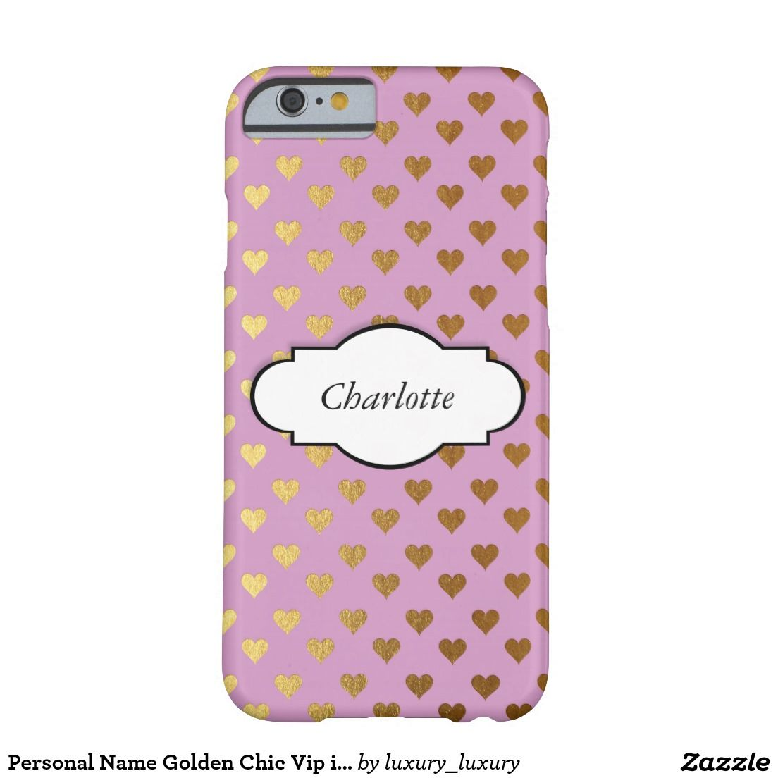 Personal Name Golden Chic Vip iPhone Samsung Case Barely There iPhone 6 Case