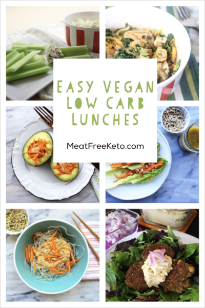 Easy Vegan Keto Lunch Recipes Vegan Low Carb Vegan Keto